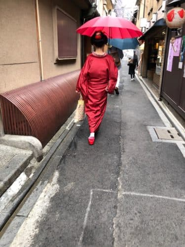 先斗町を歩く舞妓