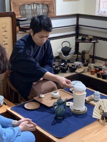 黄檗売茶流煎茶道上本町教室のようす