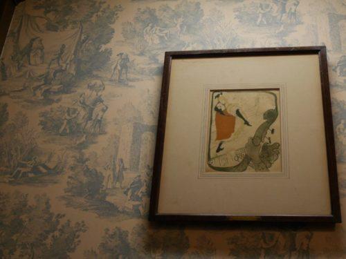 フランソワ喫茶室のオシャレな壁
