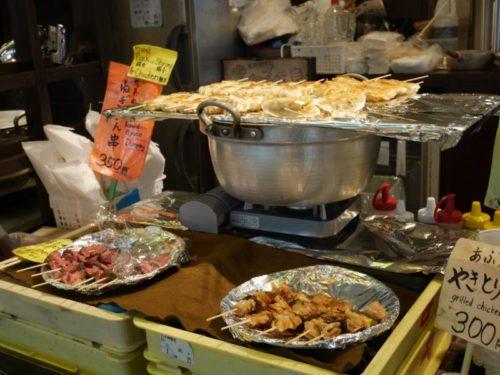 錦市場のおいしそうな食べ物