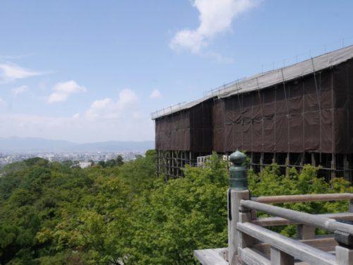 2019年9月の清水寺本堂の改修工事の様子