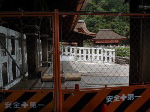 清水の舞台の工事風景