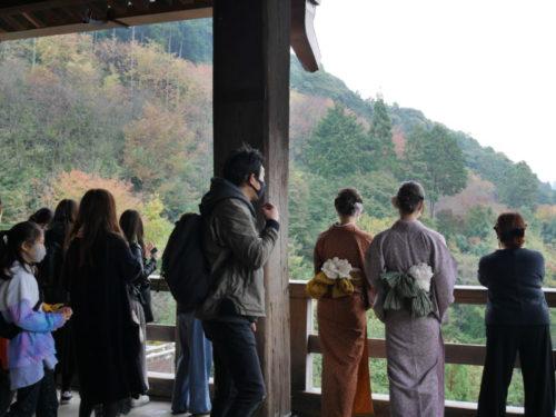 大人気な清水寺2020年11月7日