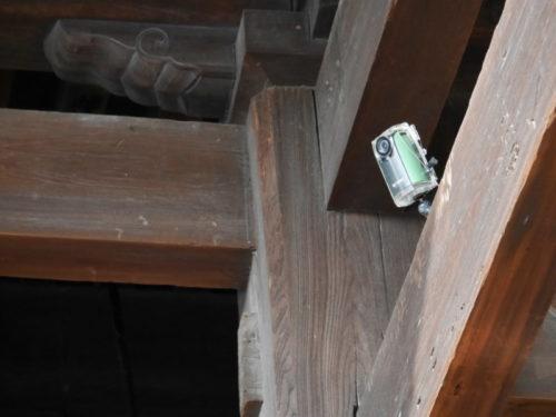 清水の舞台の監視カメラ